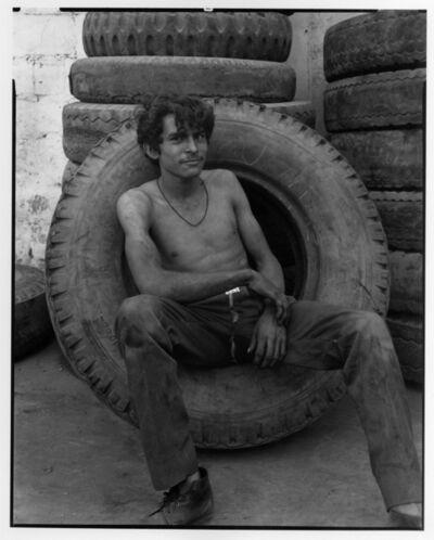 Danny Lyon, 'Boy in a tire, Tamazunchale, Mexico', 1973