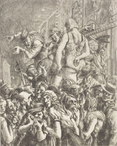 Reginald Marsh, 'The Barker', 1931
