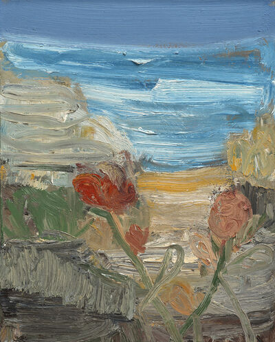 John Santoro, 'Beach with Flowers', 2014