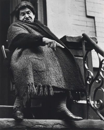 Lisette Model, 'Woman with Shawl, NYC', 1942