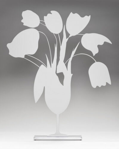 Donald Sultan, 'White Tulips and Vase, April 4, 2014, ed. 10/25', 2014