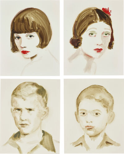 Annie Kevans, 'Four works: (i) Louise Brooks; (ii) Barbara La Marr; (iii) Bush; (iv) Ghandi', (i, ii) 2007; (iii, iv) 2006