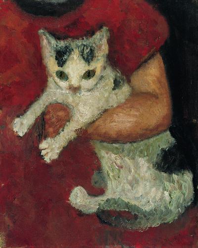 Paula Modersohn-Becker, 'Chat Tenu par un Enfant ', 1903