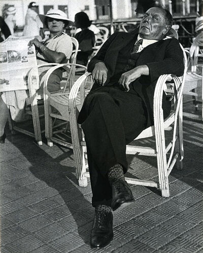 Lisette Model, 'French Gambler, Promenade des Anglais, Nice', 1934 -printed later