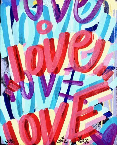 CHRIS RIGGS, 'Love Canvas 11', 2018