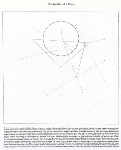 Sol LeWitt, 'The Location of a Circle', 1974