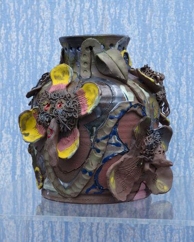 Sharif Farrag, 'Garden Pots (Hairy Flowers)', 2018