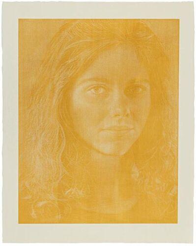 Franz Gertsch, 'Dominique (Color Yellow-Orange)', 1988