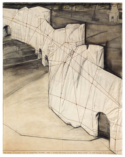 Christo, 'The Wall (Project for a Wrapped Roman Wall)', 1974