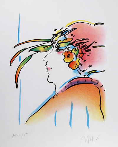 Peter Max, 'Lady with Feathers', 1980
