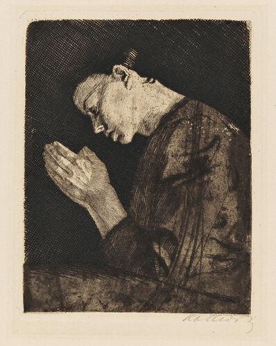 Käthe Kollwitz, 'Betendes Mädchen', 1892-published in 1931