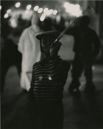 Yasuhiro Ishimoto, 'Untitled (boy with noise maker)', 1950, 1951, printed early 1950s