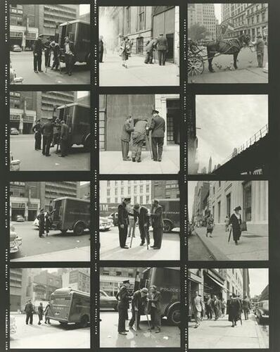 Vivian Maier, 'VM1953W03080-04-MC - Untitled (Contact Sheet) - Horse and Police', Printed 2017