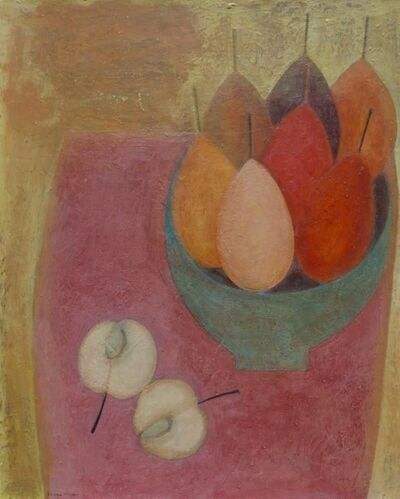 Vivienne Williams, 'Pink Table with Apple and Pears', 2018