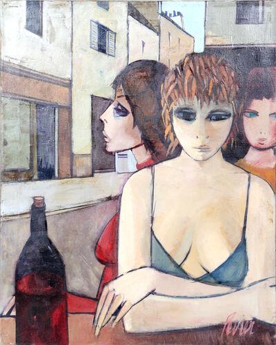 Charles Levier, 'Femmes Au Bar', ca. 1970