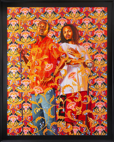 Kehinde Wiley, 'Portrait of Charles Lott and Brandon Kirkman', 2019
