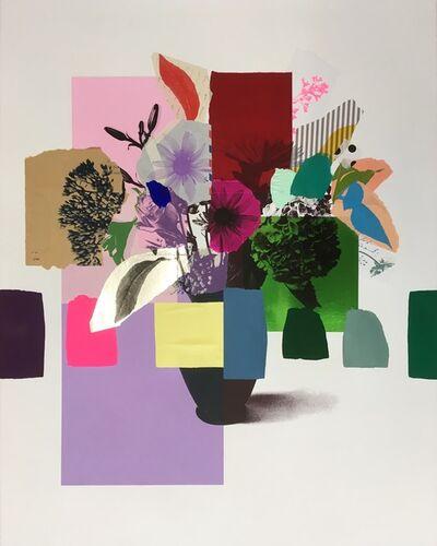 Emily Filler, 'Paper Bouquet (silver leaf)', 2019