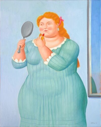 Fernando Botero, 'Woman With Lipstick', 2016