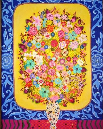 Hepzibah Swinford, 'Flowers in an Imari vase', 2018