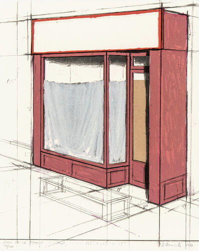 Christo, 'Pink Store Front, Project', 1980