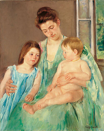 Mary Cassatt, 'Young Mother and Two Children', 1908