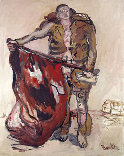 Georg Baselitz, 'With Red Flag', 1965
