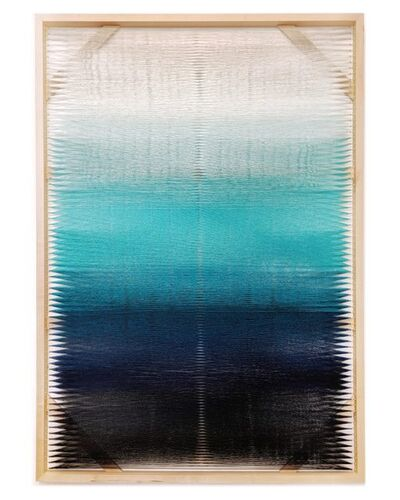 Rachel Mica Weiss, 'Woven Screen (Turquoise Gradient)', 2018