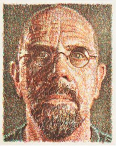 Chuck Close, 'Self Portrait, Scribble Etching', 2001