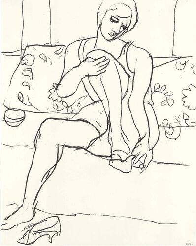 Richard Diebenkorn, 'Woman Seated on Sofa', 1965