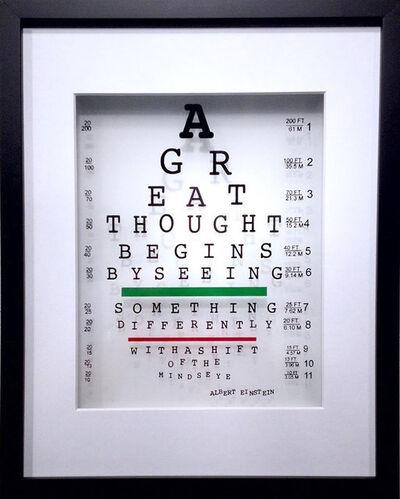 Michael Suchta, 'Albert Einstein Eye Quote'