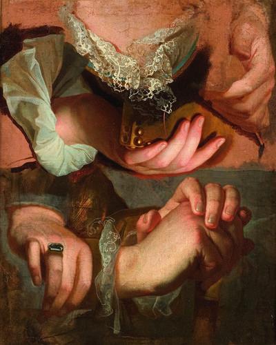 Hyacinthe Rigaud, 'Étude de mains', 1715-1723