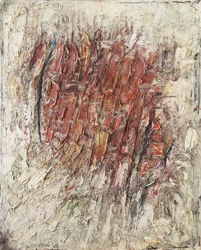 Gerhard Hoehme, 'Zersetzung der roten Mitte', 1957
