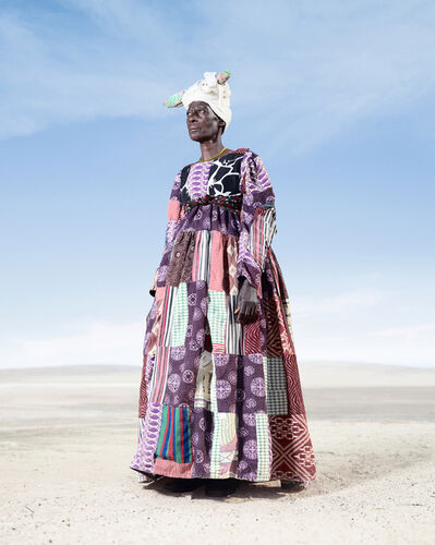 Jim Naughten, 'Herero Woman in Patchwork Dress 2', 2012