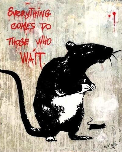 Blek le Rat, ''Everything comes to those who wait'', 2019