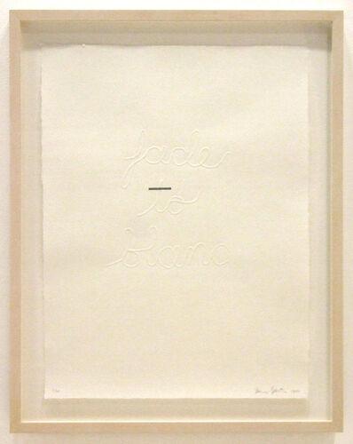 Buzz Spector, 'Fade to Blanc', 2005