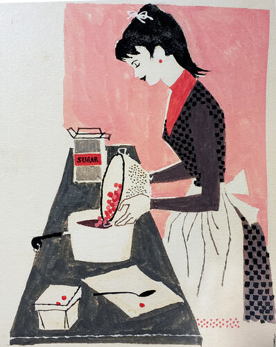 Lorraine Fox, 'Woman Baking, Redbook Illustration', 1956