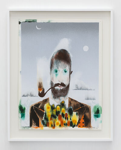 Barnaby Furnas, 'Man with Flowers and Pipe #1', 2013
