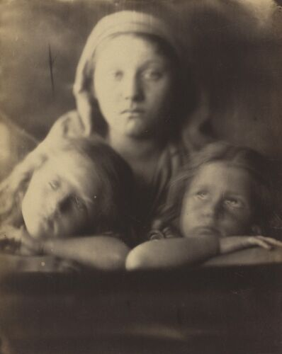 Julia Margaret Cameron, 'Mary Hillier and Two Children', 1864