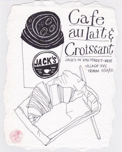 Victoria Behm, 'Cafe au lait & Croissant', 2012