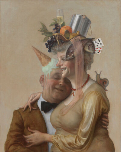 John Currin, 'Pistachio', 2016