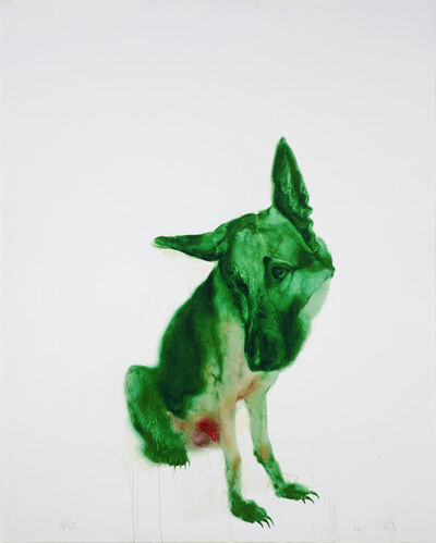 Zhou Chunya 周春芽, 'The green dog', 2011