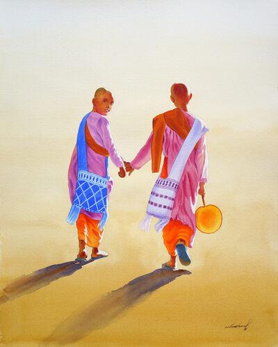 Min Wae Aung, 'Towards Nuns Rest House (1)', 2016