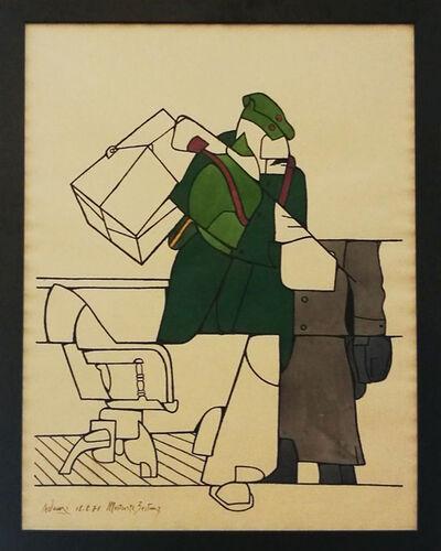 Valerio Adami, 'Illustrierte Zeitung,', 1971