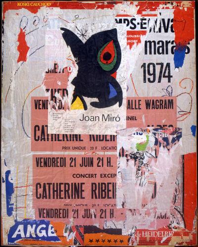 Raymond Hains, 'Hommage à Mirò', 1974