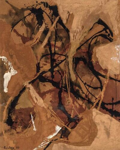 Toti Scialoja, 'Luce Romana', 1957