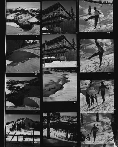Herbert Matter, 'Contact Sheet (Skiing)', ca. 1940