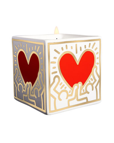 Keith Haring, 'Red Heart with Gold Square Perfumed Candle', 2018