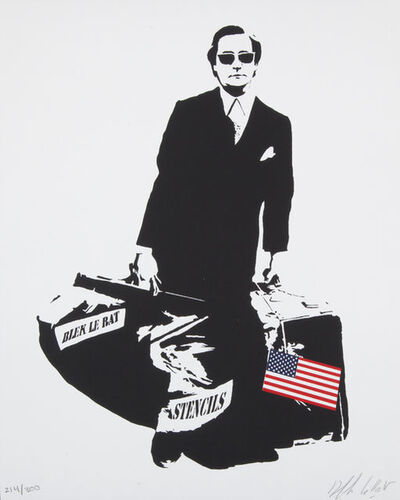 Blek le Rat, 'The Man Who Walks Through Walls (U.S Flag)', 2008