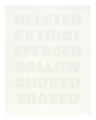 Remy Zaugg, 'Untitled (F)', 1994