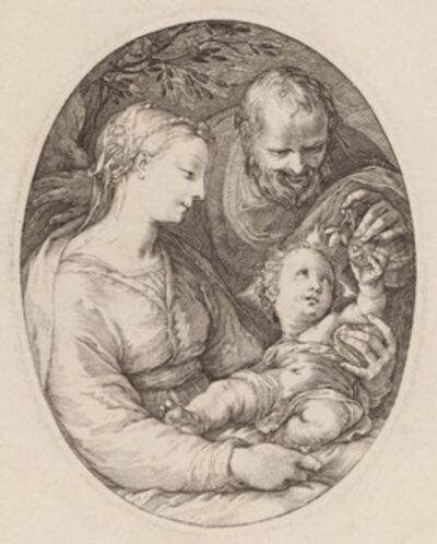 Hendrik Goltzius, 'The Holy Family'